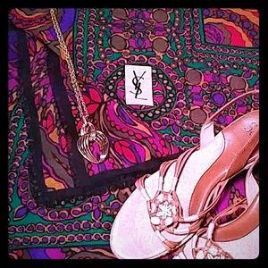 YSL Wool/Silk Scarf